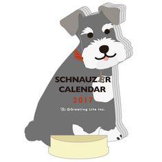 Greeting Life ANIMAL DIECUT CALENDAR Schnauzer C-912-ET