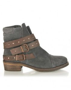 Seven Boot Lane Charlotte Charcoal Suede