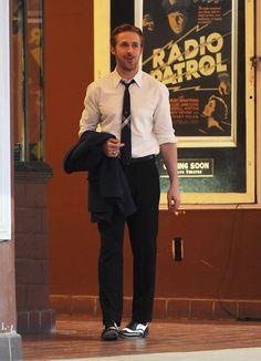 "Ryan Gosling on the set of ""La La Land"