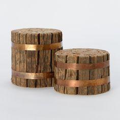Stools in wood & copper (tabourets en bois et cuivre) / #copper, #cuivre, #rame, #kupfer, #cobre