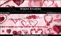 Hearts Photoshop Brushes by redheadstock.deviantart.com
