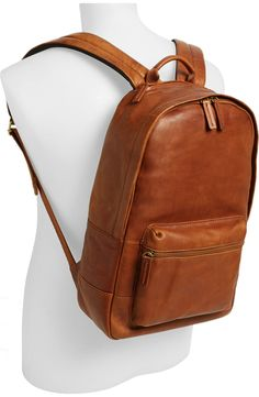 Fossil 'Ledge' Leather Backpack available at Backpack Outfit, Men's Backpack, Fashion Backpack, Brown Leather Backpack, Leather Backpacks, Classic Leather, Leather Men, Leather Purses, Fossil