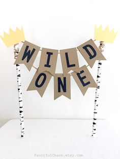 Where the Wild Things are Cake Topper Banner Baby 1st
