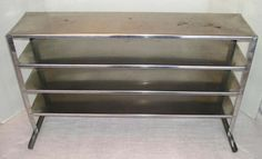 Antique Vintage Stainless Steel 4 Shelf Unit Industrial Medical Stands Alone OLD Standing Alone, Cabinets, Shelf, Medical, Industrial, Stainless Steel, The Unit, Antiques, Vintage