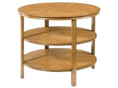 Maitland-Smith Living Room Three Tiered Occasional Table In Fawn Finish 9637-21