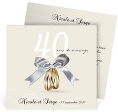 amour vos ans ref by your 40 years see more invitation anniversaire de mariage - Noce De Mariage 40 Ans