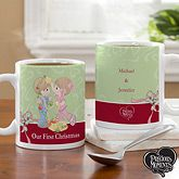 Precious Moments Personalized Christmas Coffee Mugs. Create a loving gift for the happy couple with our Precious Moments® Personalized Christmas Couple Coffee Mug. Choose from our 4 hair color combinations then custom personalize the mug with any 1 line of personalization and an optional year on the front and any 4 lines of personalization on the back. The year will appear on the gift box on the front of the mug. Choose from our 11 oz. or 15 oz. sized mugs. Our exclusive mug design was…