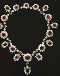 The diamond and ruby tiara from the jewel collection of Grand Duchess Maria Pavlovna. Description from pinterest.com. I searched for this on bing.com/images