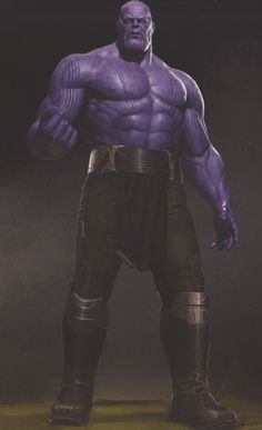 "Josh Brolin's Thanos has been described as ""thicc"" by some comic book fans after he was introduced in Avengers: Infinity War and, well, this awesome batch of concept art arguably proves it."