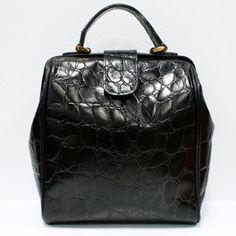 Great 1950's Faux Crock Handbag