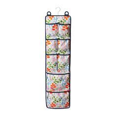 NOTUDDEN Door-mounted storage - flowers and leaves/multicolor - IKEA