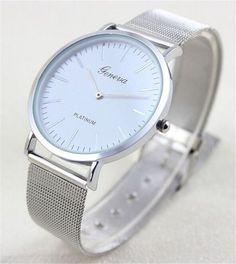 Simple Silver Geneva Women Watches 2016 Fashion Elegant Quartz Watch Mesh Steel Dress Watch Women Wristwatch Clock Reloj Mujer-in Fashion Watches from Watches on Aliexpress.com | Alibaba Group