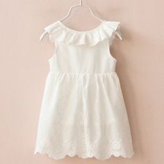 54a52d37011 Hurave Girl Dresses Solid White Girl Dresses 2017 Summer Style Children s  Clothing Dresses For Girl Vestido Infant Girl Clothes