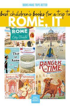 Trips with kids deserve a special amount of prepping, and these books, are here to help kids visiting Rome - The Best Children's books for a trip to Rome. Best Children Books, Childrens Books, Rome Travel, Travel Books, Italy For Kids, Planet For Kids, Rome City, History For Kids, School Themes