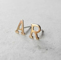 Initial Earring Studs,Personalized Monogram Earrings,Spring Jewelry,Custom Initial Posts,Tiny Gold Earrings,Personalized Jewelry (E218) on Etsy, $19.99