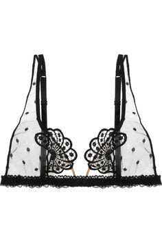 La Perla|Noche De Viento polka-dot tulle soft-cup bra