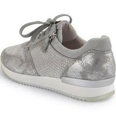 oben Gabor Gabor Pumps Grau Leder Damen Schuhe Elegant