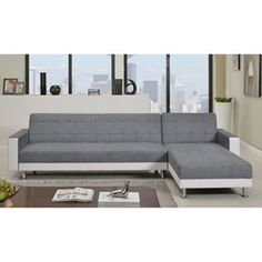 Multibygg couch 3 seats chaiselong black leather danish for Canape lit montreal