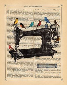 Art Print A Singers Sewing Machine... I'm kind of fascinated with singer sewing machines now :) I love vintage symbols like these