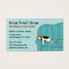 pet sitting business cards by rhonda weisberg of juggling cat design