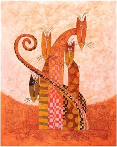Toni Goffe. *** Orange cats for mood.