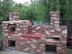 brick pizza oven and bbq