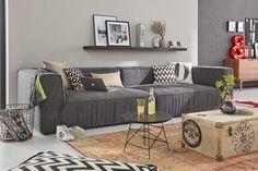 platz fur die ganze familie bietet das big cube sofa von tom tailor auch mit