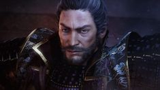Download hd wallpapers of 585383-men, Looking_at_viewer, Beards, Asian, Japanese, Nioh, Video_games, Armour, Artwork, Digital_art. Free download High Quality and Widescreen Resolutions Desktop Background