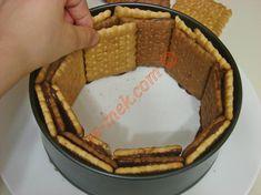 Bisküvili Pasta Tarifi Yapılış Aşaması 7/16 Tiramisu, Pie, Ethnic Recipes, Desserts, Food, Torte, Tailgate Desserts, Cake, Deserts