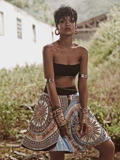 Rihanna for Vogue Brasil, 2014.