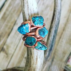 Raw+Turquoise+Stacker+Rings