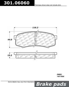 Buy Toyota Land Cruiser Disc Brake Pad Centric 301.06060 - TheAutoPartsShop for as low as $18.00 at TheAutoPartsShop.  Brand : Centric,   Part Number : toyland cruiser/301.06060,  Price : $18.00,  2 Years Warranty, . Get Best Discount Deals for Your Auto Parts, More than 3 Million Parts in The Auto Parts Shop Website. Fitement Year:1997, 1996, 1995, 1994, 1993