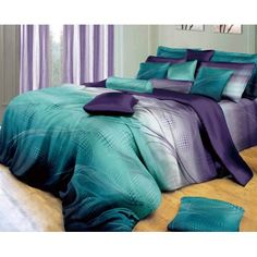 Swanson Beddings Twilight-P 3-Piece 100% Cotton Bedding Set: Duvet Cover and Two Pillow Shams (Full)