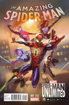 Amazing Spider-Man Vol 4 #1 Cover E Incentive Spider-Man Unlimited Game Variant Cover