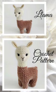 crochet patterns for beginners LLama crochet pattern/crochet Llama plush pattern/Crochet Crochet Kawaii, Crochet Bunny, Cute Crochet, Crochet Crafts, Crochet Projects, Crochet Animal Patterns, Stuffed Animal Patterns, Crochet Animals, Free Baby Crochet Patterns