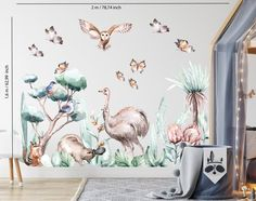 Kids Room Wall Decals, Animal Wall Decals, Room Stickers, Australian Nursery, Australian Animals, Wall Stickers Woodland, Watercolor Walls, Cleaning Walls, Light Texture