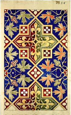 Pugin design for an encaustic floor from the Minton Archive.