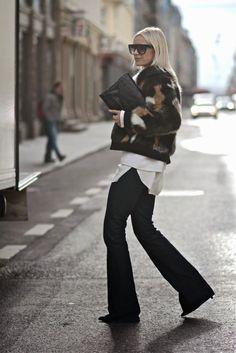 Celine in Stockholm. Sporty Chic, Street Style Women, Street Styles, Celine, Moda Barcelona, Winter Looks, Winter Style, Street Chic, Fashion Addict