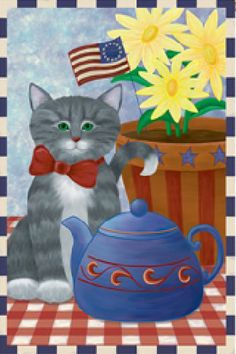 Accent Flag - Kitty Korner Decorative Flag at Garden House Flags at GardenHouseFlags