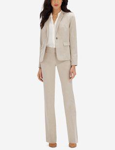 Khaki Cassidy Collection Bootcut Pants   Two Button Jacket Pantsuits For  Women, Jacket Buttons, 01acf50d0d