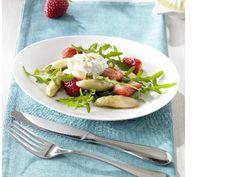 Spargelsalat mit Erdbeeren und Estragon – Creme  #spargel #erdbeeren #strawberry #asparagus