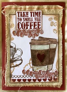 Darkroom Door Coffee Time Rubber Stamp Set Ideas. Card by Susie Campbell.