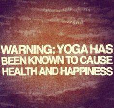 Warning: side effects. So true. I feel so good!!