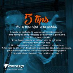 #TipsMicrosip 5 tips para manejar una queja.