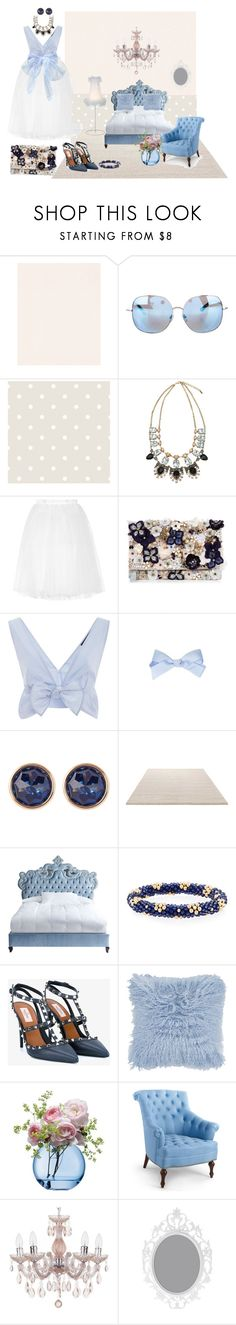 """""""Blue dream..."""" by evike111 ❤ liked on Polyvore featuring Graham & Brown, Matthew Williamson, Ballet Beautiful, Accessorize, Thakoon, Susan Caplan Vintage, ESPRIT, Haute House, Meredith Frederick and Valentino"""