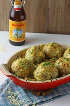 Alpengratin #sauerkraut #Knoedel #Kasseler #Bier #Bergkaese #Cheese #germanfood