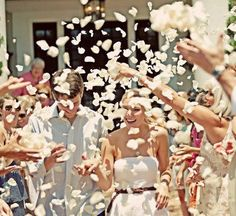 throw petals at wedding and if you need a wedding minister call me at (310) 882-5039 https://OfficiantGuy.com