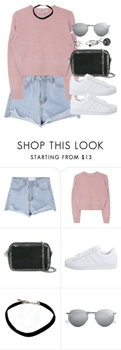 """Sin título #12396"" by vany-alvarado ❤ liked on Polyvore featuring STELLA McCARTNEY, adidas Originals and Ray-Ban"