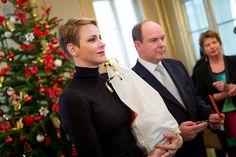 Prince Albert and Princess Charlene just before christmas