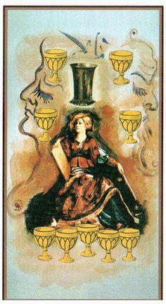 Nine of Cups - Dali Universal Tarot by Juan Llarch, Salvador Dali